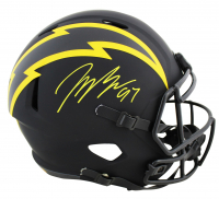 Joey Bosa Signed Chargers Full-Size Eclipse Alternate Speed Helmet (Beckett COA) at PristineAuction.com