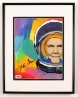John Glenn Signed 11.5x14.5 Custom Framed Embellished Photo Display (PSA LOA) at PristineAuction.com