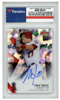 Mike Trout 2015 Bowman's Best Best of '15 Autographs Atomic Refractors #B15MT (Fanatics Encapsulated) at PristineAuction.com