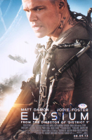 "Matt Damon Signed ""Elysium"" 11x17 Movie Poster Photo (PSA COA) at PristineAuction.com"