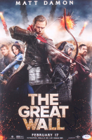 "Matt Damon Signed ""The Great Wall"" 11x17 Movie Poster Photo (PSA COA) at PristineAuction.com"
