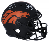 "Peyton Manning Signed Broncos Full-Size Authentic On-Field Eclipse Alternate Speed Helmet Inscribed ""SB 50 Champs"" (Fanatics Hologram) at PristineAuction.com"
