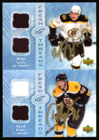 Lot of (2) Signed 2007-08 Upper Deck Ice Fresh Threads Hockey Cards With David Krejci Signed #FTDK & Milan Lucic Signed #FTML (Krejci COA & Lucic COA) at PristineAuction.com