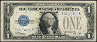 1928-B U.S. $1 One Dollar Blue Seal Silver Certificate Note at PristineAuction.com