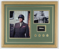 General George S. Patton 18x22 Custom Framed Display with (1) Hand-Written Word from Letter (JSA LOA Copy) at PristineAuction.com