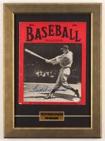 Ted Williams Signed Red Sox 13.5x18.5 Custom Framed 1940 Original Baseball Magazine Cover Display (PSA LOA) at PristineAuction.com