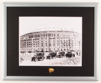 Old Yankee Stadium 17.5x21.5 Custom Framed Photo Display with Vintage Yankees Bronze Pin at PristineAuction.com