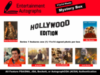 Entertainment Autographs 11x14 Photo Mystery Box Hollywood Edition featuring 1 Celebrity Signed 11x14 Photograph In Each Pack at PristineAuction.com