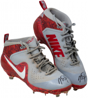 "Mike Trout Signed Game-Used 2018 Pair of (2) Nike Cleats Inscribed ""18 GU"" (Anderson Authentics LOA & Beckett LOA) at PristineAuction.com"