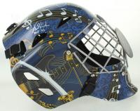 "Grant Fuhr Signed Blues Full-Size Hockey Goalie Mask Inscribed ""HOF 03"" (Schwartz Sports COA) at PristineAuction.com"