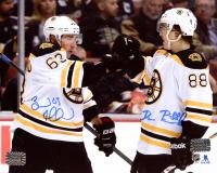 Brad Marchand & David Pastrnak Signed Bruins 8x10 Photo (Marchand COA & Pastrnak COA) at PristineAuction.com