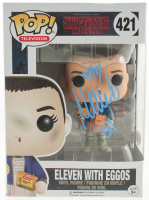 "Millie Bobby Brown Signed ""Stranger Things"" #421 Eleven With Eggos Funko Pop! Vinyl Figure Inscribed ""011"" (JSA COA) at PristineAuction.com"