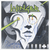 Winger 11x11 Photo Band-Signed by (4) With Kip Winger, Reb Beach, Rod Morgenstein & John Roth (JSA COA) at PristineAuction.com