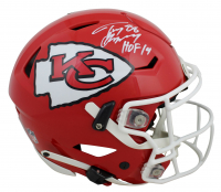 "Tony Gonzalez Signed Chiefs Full-Size Authentic On-Field SpeedFlex Helmet Inscribed ""HOF 19"" (Beckett COA) at PristineAuction.com"