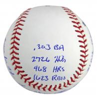 Chipper Jones Signed OML Baseball with (16) Career Stat Inscriptions (Beckett COA) at PristineAuction.com