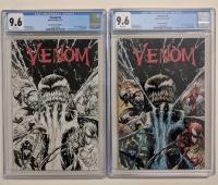 Lot of (2) 2017 Venom Issue #3 Marvel Comic Books with Tyler Kirkham Black & White Cover Variant (CGC 9.6) & Tyler Kirkham Color Cover Variant (CGC 9.6) at PristineAuction.com