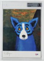 "George Rodrigue Signed ""Blue Dog"" 8x10 Photo (BGS Encapsulated & PSA COA) at PristineAuction.com"