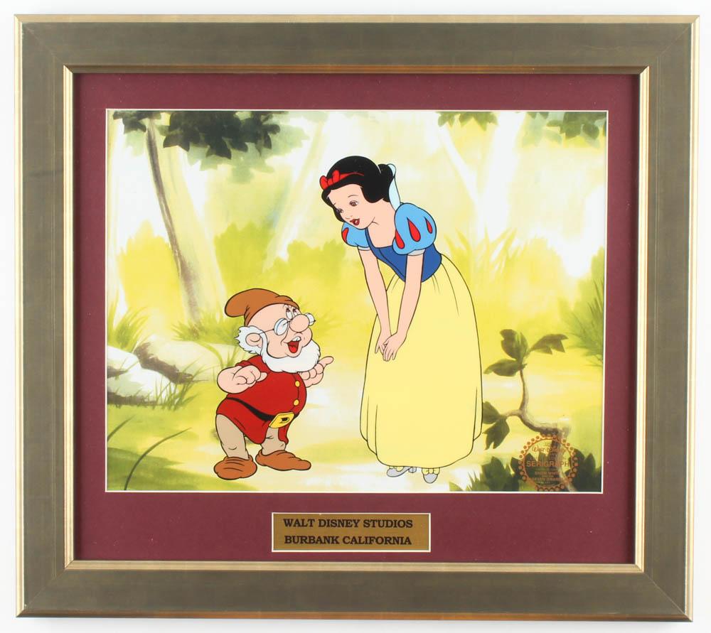 "Walt Disney's ""Snow White & the Seven Dwarfs"" 15.5x17.5 Custom Framed Animation Serigraph Display at PristineAuction.com"
