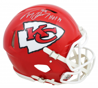 """Tony Gonzalez Signed Chiefs Full-Size Authentic On-Field Speed Helmet Inscribed """"HOF 19"""" (Beckett COA) at PristineAuction.com"""