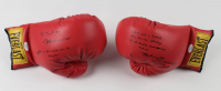 "Muhammad Ali Dual Signed Pair of Everlast Boxing Gloves with Multiple Inscriptions including ""Float like a butterfly, sting like a bee, I'll always be the greatest just wait and see"" (JSA LOA) at PristineAuction.com"
