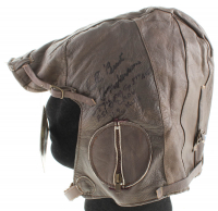 Bud Anderson Signed Vintage WWII Leather Pilot's Helmet With Multiple Inscriptions (Beckett COA) at PristineAuction.com