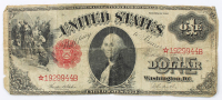 Star Note - 1917 $1 One-Dollar Red Seal U.S. Legal Tender Large-Size Bank Note at PristineAuction.com