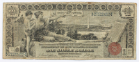 "1896 $1 One-Dollar ""Educational Series"" Large-Size Silver Certificate at PristineAuction.com"
