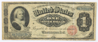 1886 $1 One-Dollar U.S. Silver Certificate Large-Size Bank Note at PristineAuction.com