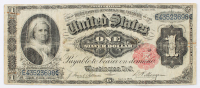 1891 $1 One-Dollar U.S. Silver Certificate Large-Size Bank Note at PristineAuction.com