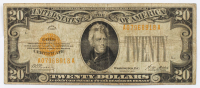 1928 $20 Twenty-Dollar U.S. Gold Certificate Bank Note at PristineAuction.com