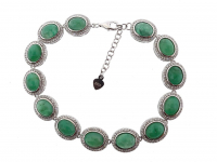 25.25ct Natural Jade Bracelet (GAL Certified) at PristineAuction.com
