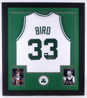 Larry Bird Signed 32x35 Custom Framed Jersey (Beckett COA) at PristineAuction.com