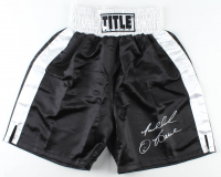 Riddick Bowe Signed Title Boxing Trunks (Schwartz Sports COA) at PristineAuction.com