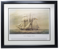 """Capture of HM Schooner Margaretta"" 22x27 Custom Framed Photo at PristineAuction.com"