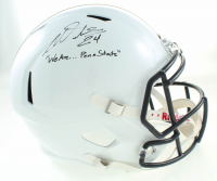 "Miles Sanders Signed Penn State Nittany Lions Speed Full-Size Helmet Inscribed ""We Are... Penn Sate"" (JSA COA) at PristineAuction.com"