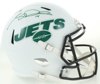 Sam Darnold Signed Jets Full-Size Matte White Speed Helmet (Beckett COA) at PristineAuction.com