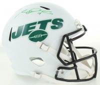 Sam Darnold Signed Jets Full-Size Matte White Speed Helmet (Beckett COA) at PristineAuction.com