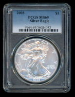 2003 American Silver Eagle $1 One Dollar Coin (PCGS MS69) at PristineAuction.com