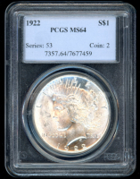 1922 Peace Silver Dollar (PCGS MS64) at PristineAuction.com