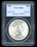 1923 Peace Silver Dollar (PCGS MS64) at PristineAuction.com