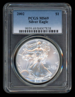 2002 American Silver Eagle $1 One Dollar Coin (PCGS MS69) at PristineAuction.com