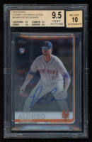Pete Alonso 2019 Topps Clearly Authentic Autographs #CAAPA RC (BGS 9.5) at PristineAuction.com