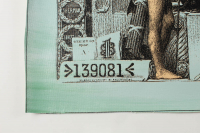 "Steve Kaufman Signed ""One Silver Dollar Bill"" Hand-Embellished Limited Edition 30x12 Silkscreen on Canvas #43/50 at PristineAuction.com"