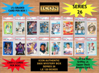 ICON AUTHENTIC 300X MYSTERY BOX SERIES 26 300+ Cards per Box at PristineAuction.com