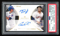 2018 Topps On Demand Dynamic Duals Award Winners Autographs Black #AW5CA Kris Bryant / Carlos Correa (PSA 9) at PristineAuction.com
