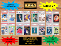 ICON AUTHENTIC 300X MYSTERY BOX SERIES 27 300+ Cards per Box at PristineAuction.com