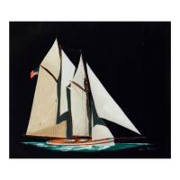 "Alex Blokhin Signed ""Two Masted Schooner"" 21x18 Original Oil Painting on Canvas at PristineAuction.com"