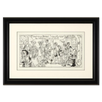 "Dan Piraro Signed Bizarro ""Holy Special Effects"" 20x14 Custom Framed Original Pen & Ink Drawing at PristineAuction.com"