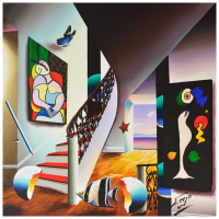 "Ferjo Signed ""A Gift of Beauty"" 24x24 Original Painting on Canvas at PristineAuction.com"