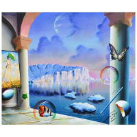 "Ferjo Signed ""Glacier View"" 20x24 Original Painting on Canvas at PristineAuction.com"